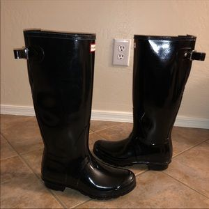 Hunter Original Tall Adjustable Back Gloss Boots